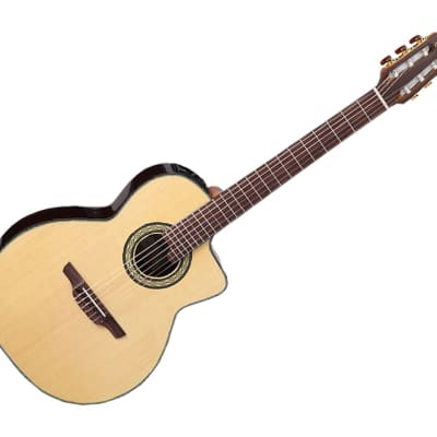 Takamine Classical with cutaway AE Guitar gold CTP-3 Cool Tube electronics w/case - TC135SC for sale