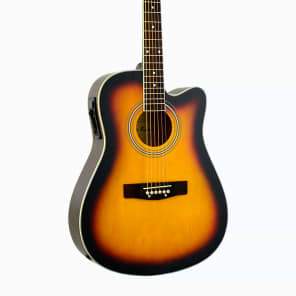 De Rosa GA300CE-TS Dreadnought Cutaway Basswood Top Maple Neck 6-String Acoustic Guitar for sale