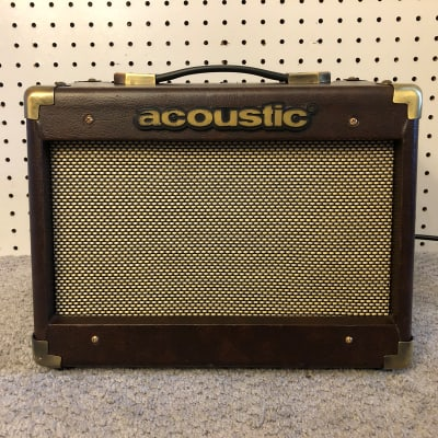 "Acoustic A15 15W 1x6.5"" Acoustic Instrument Combo Amplifier Brown"