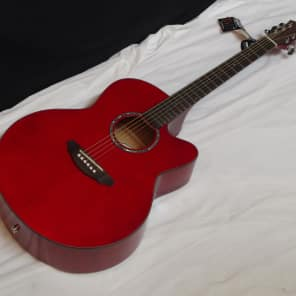 MICHAEL KELLY Series 60 JUMBO Cutaway acoustic electric GUITAR Trans Red - B for sale