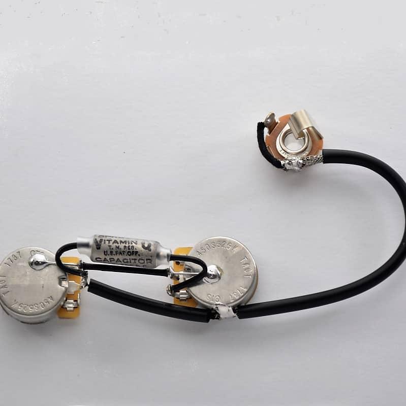 les paul jr type wiring harness by jel 525k cts short. Black Bedroom Furniture Sets. Home Design Ideas