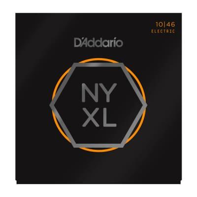 D'Addario NYXL1046 Nickel Wound Guitar Strings, Regular Light, 10-46