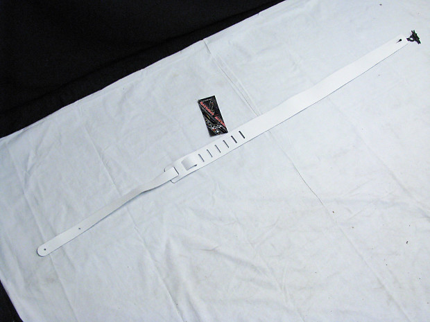 perri 39 s white leather guitar strap new 2 wide reverb. Black Bedroom Furniture Sets. Home Design Ideas