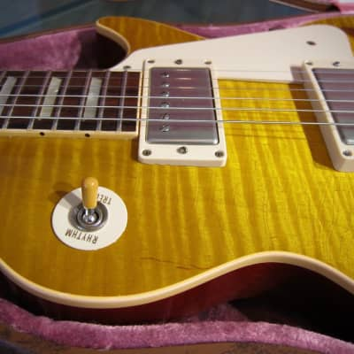Gibson 1960 Les Paul Standard Reissue 2007 Custom Shop R-0 Factory Aged Amber Flame Top w Brown OHSC for sale