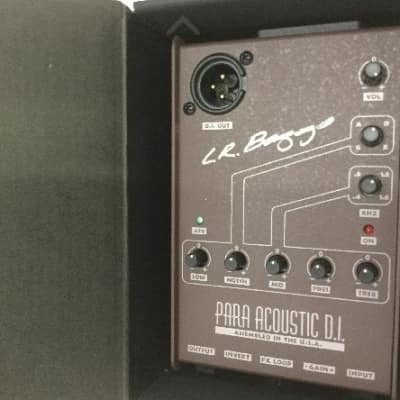 LR Baggs Para DI Acoustic Preamp, 5-band EQ, and Direct Box / never installed!