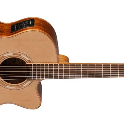 Musical Instruments & Gear Natural Acoustic Electric Guitars Washburn Wlg16s Grand Auditorium 6-string Acoustic Guitar