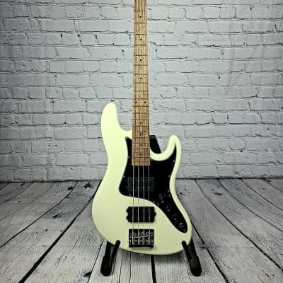 Balaguer Goliath Select Bass - Satin Vintage White w/Roasted Maple Neck for sale