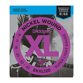 D'Addario EKXL120 Nickel-Wound Super-Light Reinforced Electric Guitar Strings w