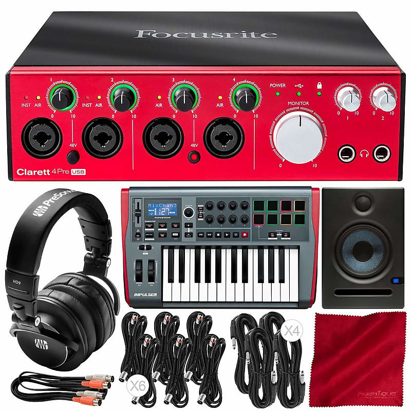 focusrite clarett 4pre usb 18x6 usb audio interface with reverb. Black Bedroom Furniture Sets. Home Design Ideas