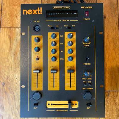 Next!  PDJ-30 2-channel DJ Mixer PDJ30 2010 Black - Like New - Smooth Crossfader/Knobs