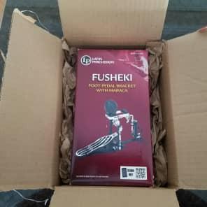 Latin Percussion LP281F Fusheki Foot Shaker Pedal Bracket w/ Maraca