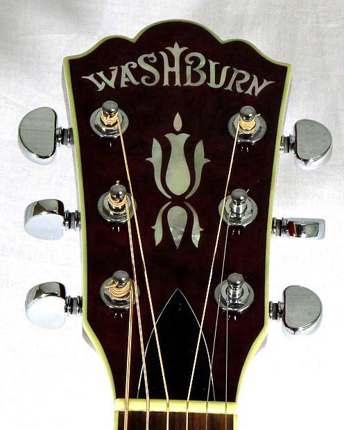 washburn ea18tr red acoustic electric guitar reverb. Black Bedroom Furniture Sets. Home Design Ideas