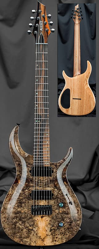 kiesel c7h crescent carved top 7 string electric guitar 2019 reverb. Black Bedroom Furniture Sets. Home Design Ideas