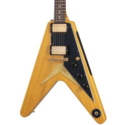 Gibson Custom Shop 1958 Korina Flying V Reissue - Black Pickguard