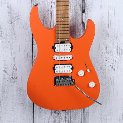 Charvel Pro-Mod DK24 HSH 2PT CM Electric Guitar Seymour Duncan HSH Satin Orange for sale
