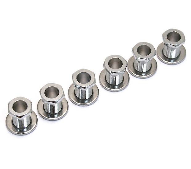 set of 6 guitar screw in tuner bushings face washers in reverb. Black Bedroom Furniture Sets. Home Design Ideas