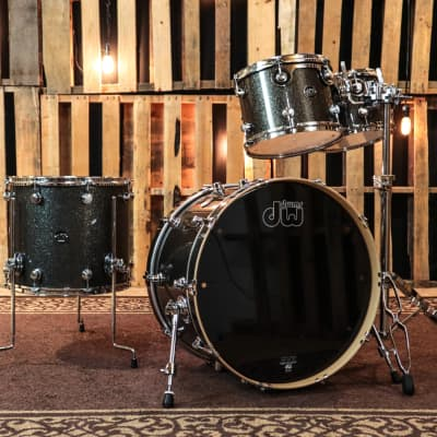 DW Performance Maple Pewter Sparkle Drum Set -14x22,8x10,9x12,14x16