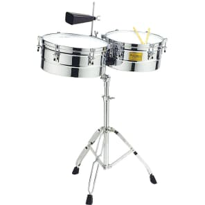 """Tycoon TTI-1415C 14/15"""" Chrome Shell Timbales"""