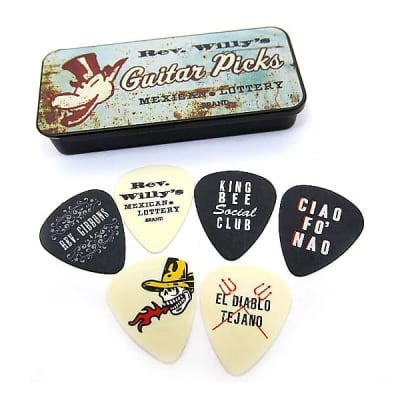 Dunlop RWT03H Billy Gibbons / Reverend Willy's Heavy Guitar Pick Tin (6-Pack)