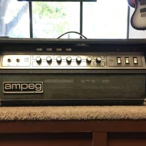 Ampeg V-2 60-Watt Guitar Amp Head with Master Volume Late 1970s