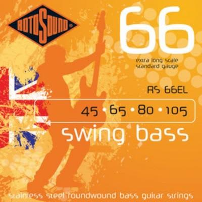 Rotosound Swing Bass Strings 66 (Non Standard Scale Lengths) RS 66EL Extra Long 45 - 105