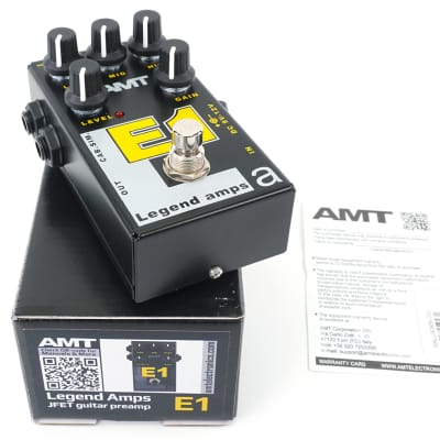 AMT Electronics E1 Legend Amps Preamp Guitar Effects Pedal Made in Russia Emulates Engl