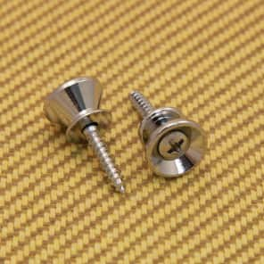 AP-0670-010 (2) Gotoh Chrome Strap Buttons/Screws For Fender® Guitar & Bass for sale