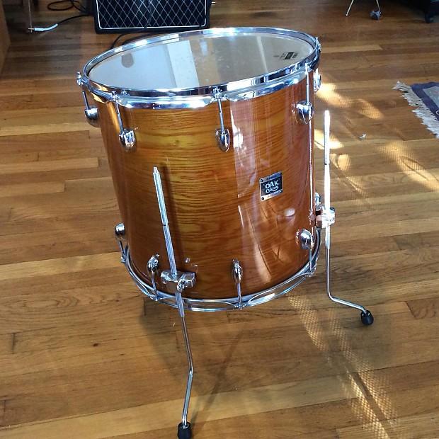 Yamaha oak custom 16 floor tom drum amber reverb for 16 floor tom