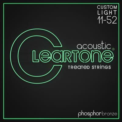 Cleartone Phosphor Bronze Acoustic Strings Custom Light 11-52