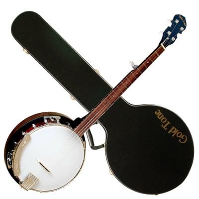 Gold Tone CC-50RP/L Cripple Creek Resonator Banjo w/Planetary Tuners & Hard Case For Lefty Players
