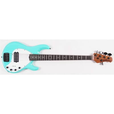 Music Man StingRay 5 Special Bass, Maple/Ebony, Cruz Teal for sale