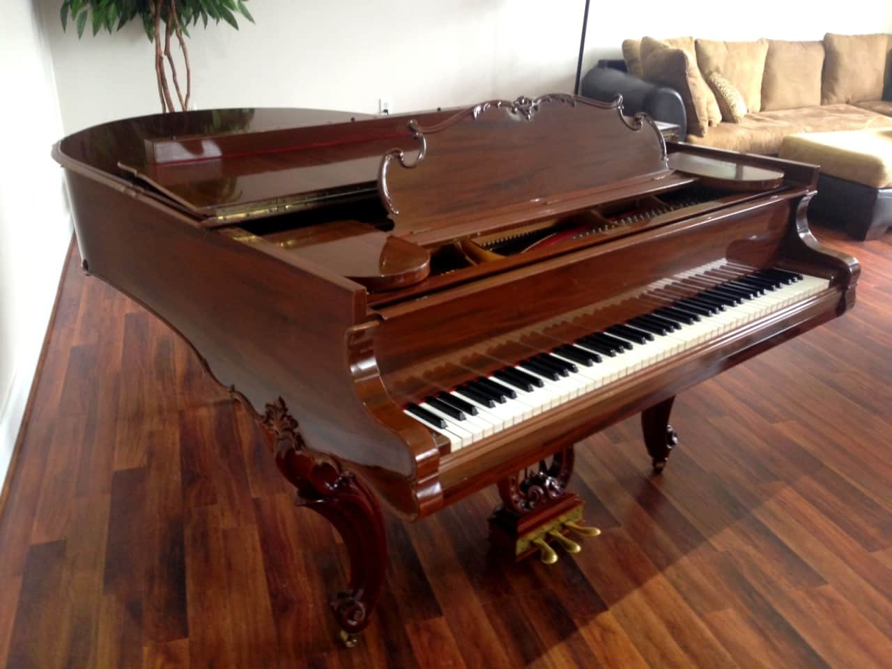 Steinway o grand piano art case louis xv restored reverb for Royal pianos