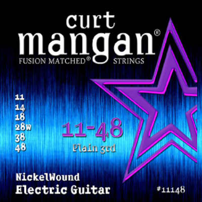 Curt Mangan 11-48 Fusion Matched Nickelwound Electric Guitar Strings