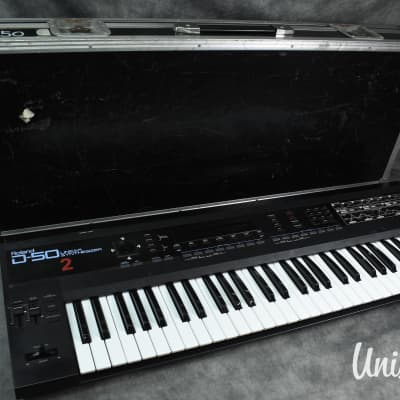 Roland D-50 Digital Polyphonic Synthesizer in Excellent Condition w/ Hard Case