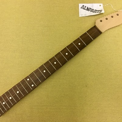 TRO-62 Fender Licensed Allparts Unfinished Maple Telecaster Guitar Neck With Rosewood Fretboard for sale