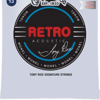 Martin MTR13 Retro Acoustic Guitar Strings .013-.056 Tony Rice Bluegrass