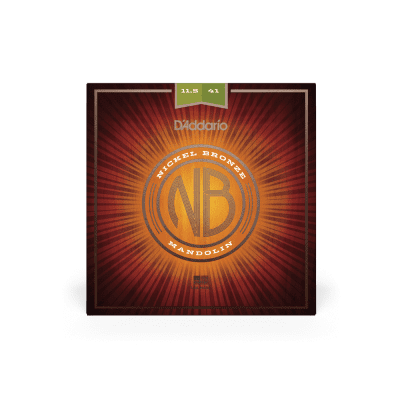 D'Addario NBM11541 Nickel Bronze 11.5-41 Medium/Heavy Mandolin Strings 5 Sets