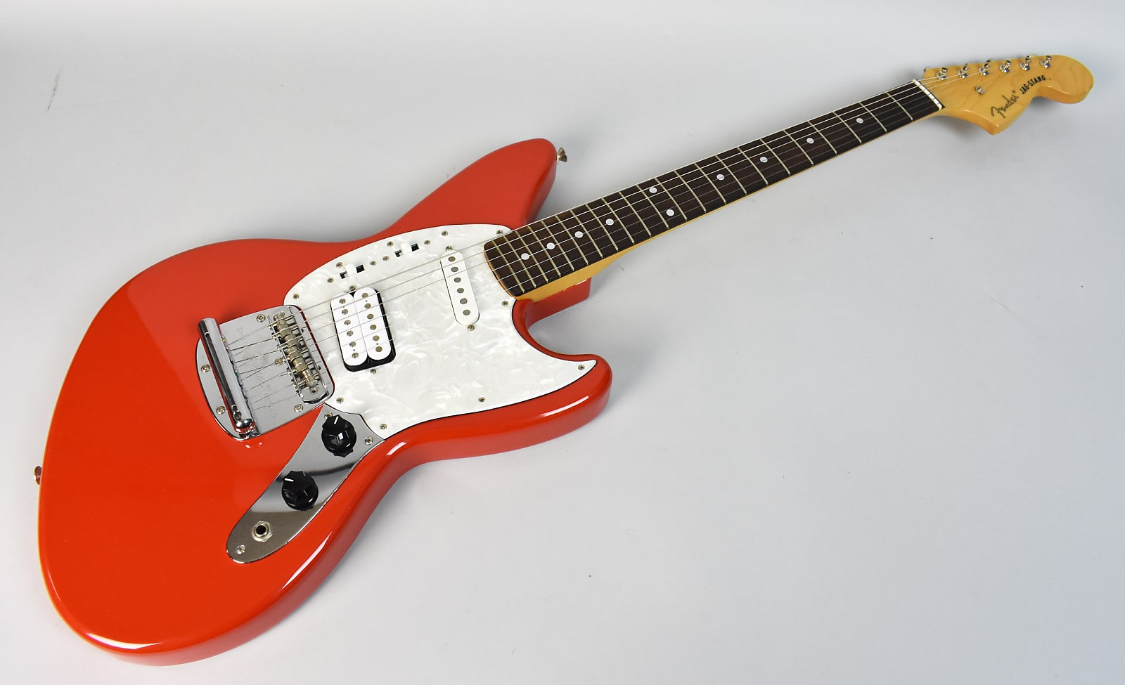 1996 Fender Jag-Stang Designed By Kurt Cobain Electric Guitar Fiesta Red Made In Japan!