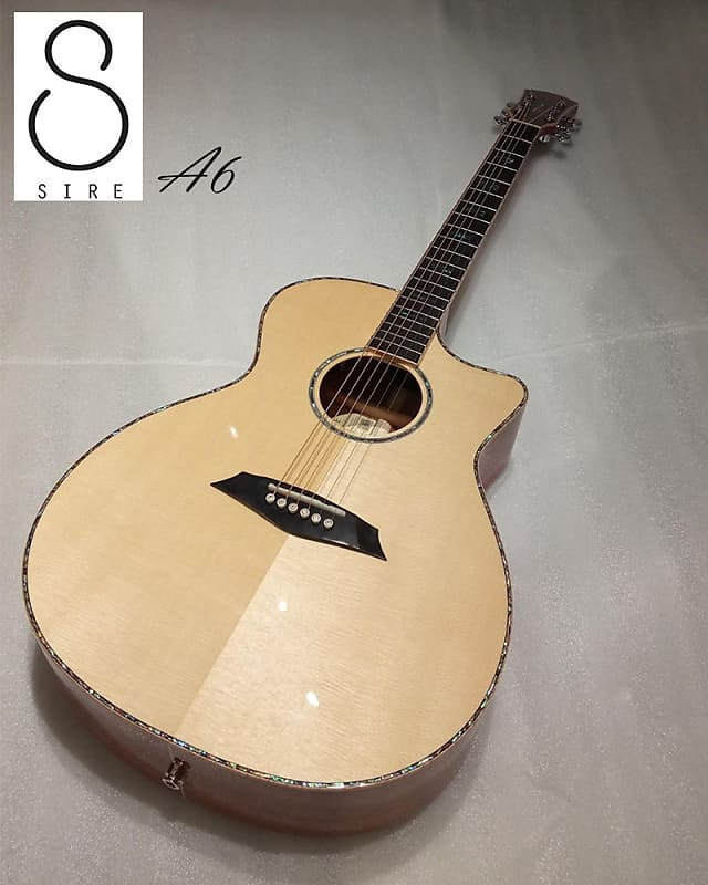 Sire A6 Sungha jung The All Solid Spruce Mahogany acoustic Electric Guitar