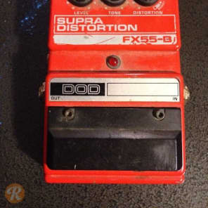 DOD Supra Distortion FX55-B Red 1990s