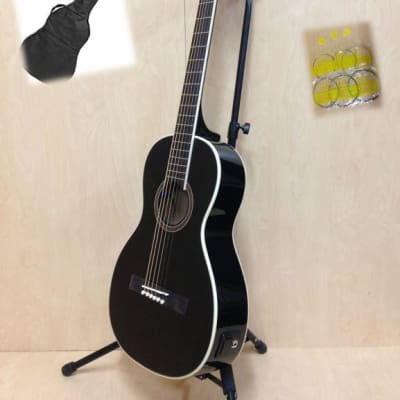 Caraya Parlor-590 BK Electric-Acoustic Guita,EQ,Black Gloss +Free Gig Bag,3 Picks for sale