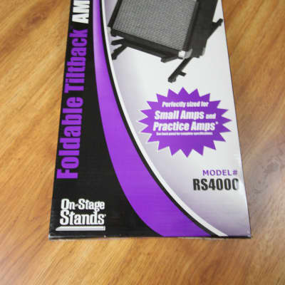On Stage Rs4000 Folding Tiltback Small Amp Stand Reverb