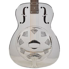 Dobro Hound Dog M-14 Metal Body Round Neck Nickel NH for sale