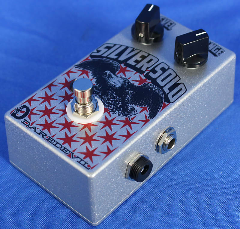 daredevil usa silver solo boost effect effects pedal for reverb. Black Bedroom Furniture Sets. Home Design Ideas