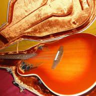Nice USA Ovation 1985-1 Collectors Series Sunburst Acoustic Electric Guitar & Case for sale