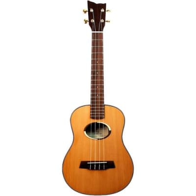 Kremona Coco Tenor Ukulele with CGGB-BK Hardshell Case, 18 Frets, Rosewood Fingerboard, Solid Cedar Top, Solid Rosewood Back & Sides, Matte for sale