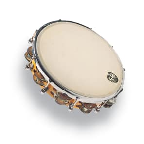 """Latin Percussion CP391 CP 10"""" Tuneable Double-Row Wood Tambourine w/ Head"""