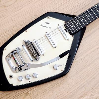 1966 Vox Phantom XII Model V221 Vintage 12 String Electric Guitar Black Eko Italy w/ Case, Candy for sale