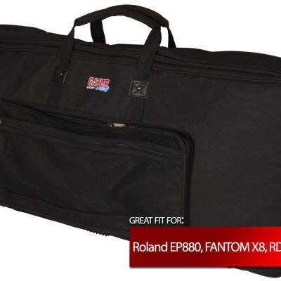Gator Cases Keyboard Gig Bag for Roland EP880, FANTOM X8, RD-600, RD-70, XV-88