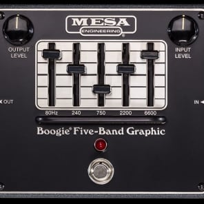 Mesa/Boogie Five-Band Graphic Equaliser EQ Guitar Effect Pedal for sale